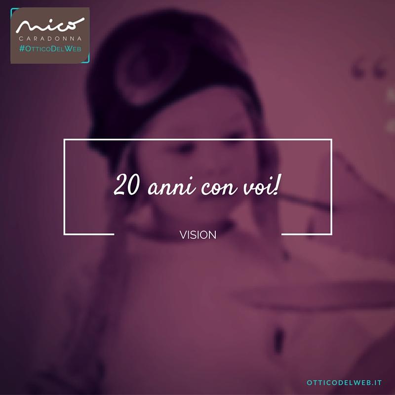 20 anni con voi! | Nico Caradonna #OtticoDelWeb