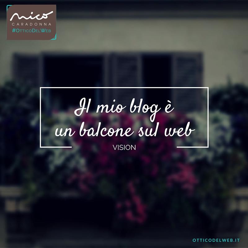 Il mio blog è un balcone sul web | Nico Caradonna #OtticoDelWeb
